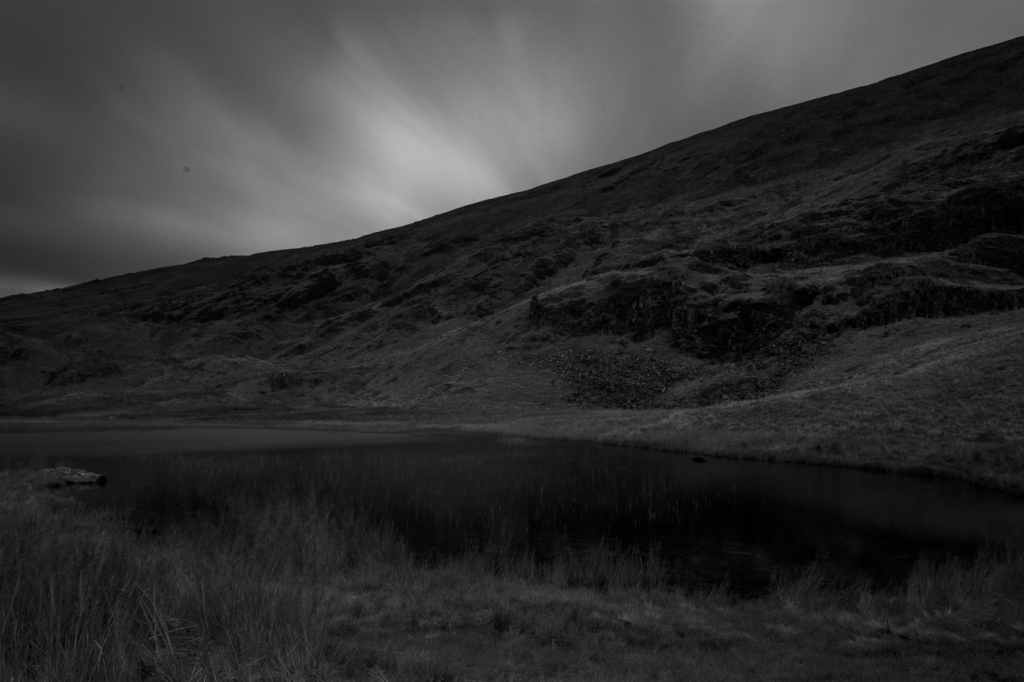 Dale Head Tarn with the last light of Friday evening