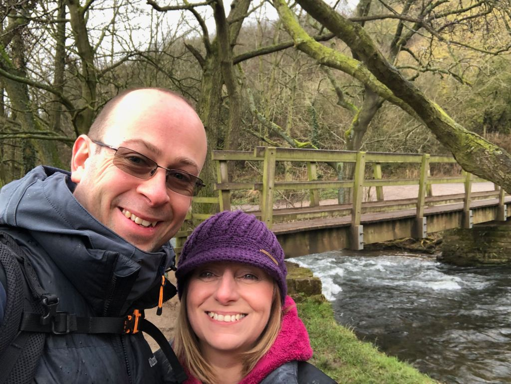 Cheryl and myself at the beginning of Dovedale
