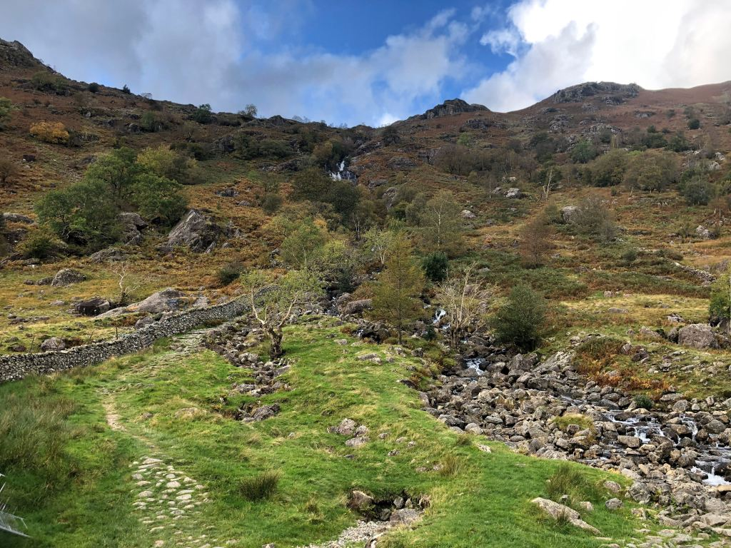 The descent down Sour Milk Ghyll, Seathwaite